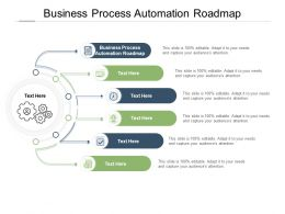 Business Process Automation Roadmap Ppt Powerpoint Presentation Show Background Designs Cpb