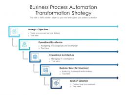 Business Process Automation Transformation Strategy