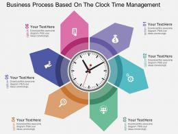 Business Process Based On The Clock Time Management Flat Powerpoint Design