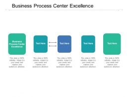 Business Process Center Excellence Ppt Powerpoint Presentation Visual Aids Example File Cpb
