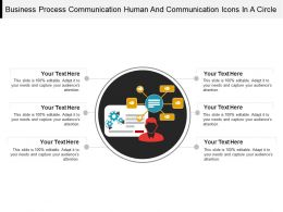 Business Process Communication Human And Communication Icons In A Circle