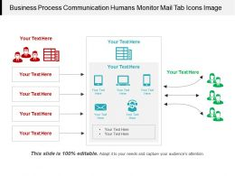 Business Process Communication Humans Monitor Mail Tab Icons Image