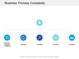 Business Process Complexity Ppt Powerpoint Presentation Professional Tips Cpb