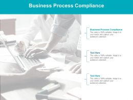 Business Process Compliance Ppt Powerpoint Presentation Pictures Show Cpb