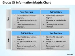 Business Process Consulting Group Of Information Matrix Chart Powerpoint Templates 0528