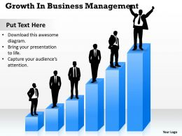 Business Process Consulting Growth Management Powerpoint Templates 0528