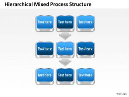 Business Process Consulting Hierarchical Mixed Structure Powerpoint Templates 0528