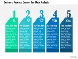 Business Process Control For Data Analysis Flat Powerpoint Design