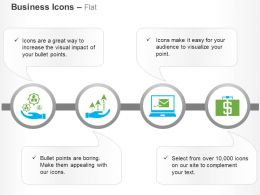 Business Process Control Laptop Communication Financial Analysis Ppt Icons Graphics