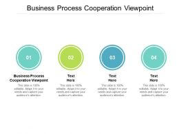 Business Process Cooperation Viewpoint Ppt Powerpoint Presentation Styles Templates Cpb