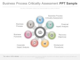 Business Process Criticality Assessment Ppt Sample