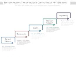 Business Process Cross Functional Communication Ppt Examples