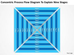 Business Process Diagram Example Flow To Explain Nine Stages Powerpoint Templates