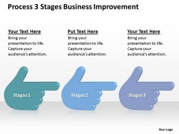 Business Process Diagram Examples 3 Stagesbusiness Improvement Powerpoint Templates 0515