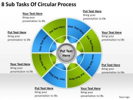 Business Process Diagram Examples 8 Sub Tasks Of Circular Powerpoint Slides