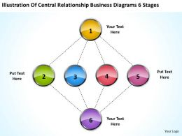 Business Process Diagram Examples Diagrams 6 Stages Powerpoint Templates PPT Backgrounds For Slides