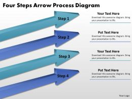 Business Process Diagram Examples Four Steps Arrow Powerpoint Slides