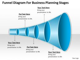 Business Process Diagram Examples Funnel For Planning Stages Powerpoint Templates