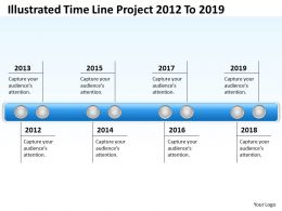 Business Process Diagram Examples Illustrated Time Line Project 2012 To 2019 Powerpoint Slides