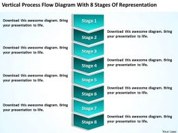 Business Process Diagram Flow With 8 Stages Of Representation Powerpoint Slides