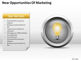 Business Process Diagram New Opportunities Of Marketing Powerpoint Slides 0515