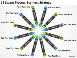Business Process Diagram Symbols 12 Stages Strategy Powerpoint Templates