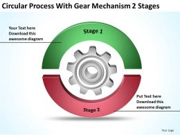 business_process_diagram_symbols_circular_with_gear_mechanism_2_stages_powerpoint_slides_Slide01