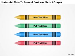Business Process Diagram Symbols Flow To Present Steps 4 Stages Powerpoint Templates