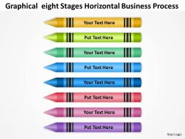 Business Process Diagram Symbols Of Eight Stages Horizontal Powerpoint Templates