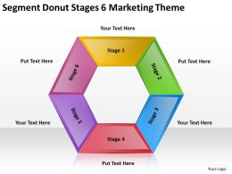 Business Process Diagram Symbols Segment Donut Stages 6 Marketing Theme Powerpoint Templates 0515