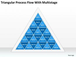 Business Process Diagram Triangular Flow With Multistages Powerpoint Slides 0515