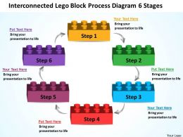 Business Process Diagram Visio Lego Block 6 Stages Powerpoint Templates