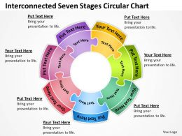 Business Process Diagram Visio Seven Stages Circular Chart Concept Powerpoint Templates