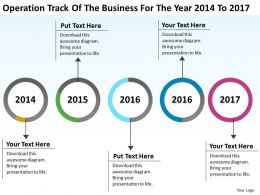 Business Process Diagram Visio Track Of The For Year 2014 To 2017 Powerpoint Slides
