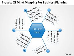 Business Process Diagram Vision Mind Mapping For Planning Powerpoint Templates