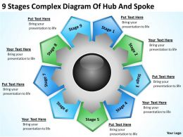 Business Process Diagram Vision Of Hub And Spoke Powerpoint Templates PPT Backgrounds For Slides