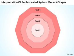Business Process Diagram Vision Of Sophisticated System Model 4 Stages Powerpoint Templates