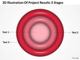 Business Process Diagrams 3d Illustration Of Project Results Stages Powerpoint Slides