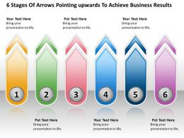 Business Process Diagrams Arrows Pointing Upwards To Achieve Results Powerpoint Templates