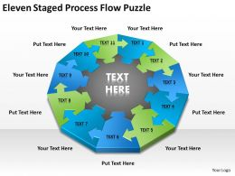 Business Process Diagrams Examples Flow Puzzle Powerpoint Templates PPT Backgrounds For Slides 0515