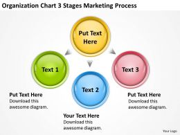 Business Process Diagrams Examples Organization Chart 3 Stages Marketing Powerpoint Slides 0522