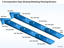Business Process Diagrams Steps Showing Marketing Planning Powerpoint Templates