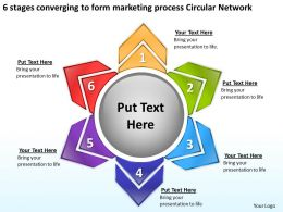 Business Process Diagrams To Form Marketing Circular Network Powerpoint Templates