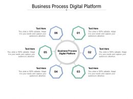 Business Process Digital Platform Ppt Powerpoint Presentation Infographic Template Guide Cpb