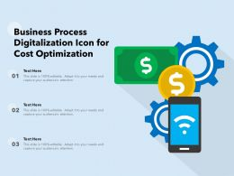 Business Process Digitalization Icon For Cost Optimization