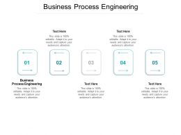 Business Process Engineering Ppt Powerpoint Presentation Designs Cpb