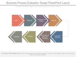 Business Process Evaluation Design Powerpoint Layout