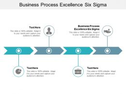 Business Process Excellence Six Sigma Ppt Powerpoint Presentation Summary Infographics Cpb