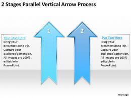 Business Process Flow Chart 2 Stages Parallel Vertical Arrow Powerpoint Templates
