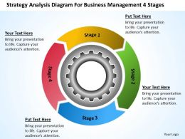 Business Process Flow Chart Example Diagram For Management 4 Stages Powerpoint Slides